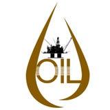 Daling van olie Royalty-vrije Stock Foto's