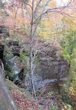 Daling van Smokey Mountains royalty-vrije stock afbeeldingen