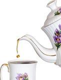 Daling van thee Royalty-vrije Stock Afbeeldingen
