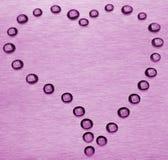 Dalingen in de vorm van hart. Royalty-vrije Stock Afbeelding