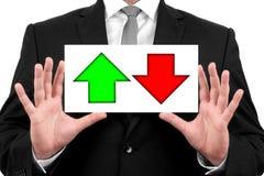Dalingen en verhogingen van effectenbeurs Royalty-vrije Stock Afbeeldingen
