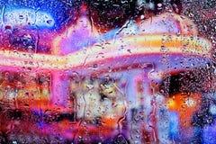 Dalingen op het glas Stock Afbeeldingen