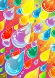 Dalingen op regenboog Stock Afbeeldingen