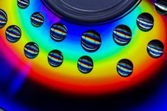Dalingen van een regenboog, CD royalty-vrije stock fotografie