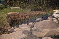 Dalingen van fontein stock afbeeldingen