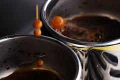 Dalingen van hete espresso Royalty-vrije Stock Foto