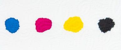 Dalingen van kleuren CMYK Stock Afbeeldingen