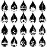 Dalingen van olie Stock Afbeeldingen