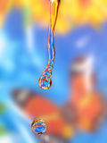 Dalingen van water stock fotografie