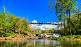 Dalingenpark in Greenville Van de binnenstad, Zuid-Carolina, Verenigde Staten stock fotografie