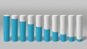 Dalings economische grafiek 3D Grafiek 1 van de Cilindercirkel stock illustratie