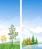 Dalings verticale banners Stock Afbeeldingen