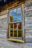 Dalingsbezinningen, het Schoolgebouw van de Borstelberg bij het Nationale Park van Cumberlan Gap Royalty-vrije Stock Foto