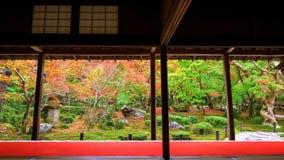 dalingskleur bij Enkoji-tempel, Kyoto Stock Afbeeldingen