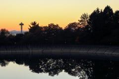 Dalingskleuren bij het Vrijwilligerspark, Seattle Washington royalty-vrije stock afbeelding