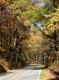 Dalingskleuren langs Blauw Ridge Parkway stock foto's