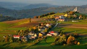 Dalingslandschap in Slowakije Stock Afbeeldingen