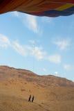 Dalingsproces van ballon in Luxor stock afbeelding