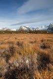 Dalingsscène in de Alpen, geen mensen rond Stock Afbeeldingen