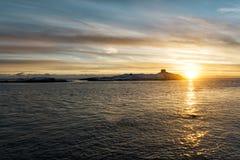 Dalky ö på soluppgång, Dublin Arkivbilder