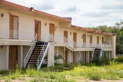 Dall'affare motel abbandonato Fotografie Stock