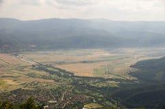 Dall'altezza del passaggio del Balcani Fotografia Stock Libera da Diritti