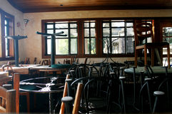Dall'interno del ristorante di affari Fotografie Stock