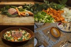 Dalla cucina alla Tabella immagine stock
