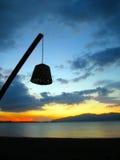 Dalla luce della spiaggia di mattina Fotografie Stock