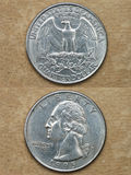 Dalla serie: monete del mondo. L'America. DOLLARO QUARTO. Immagini Stock