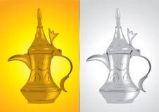 Dallah - o potenciômetro árabe tradicional do café Fotografia de Stock