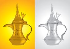 Dallah - the Traditional arabic coffee pot Stock Photography