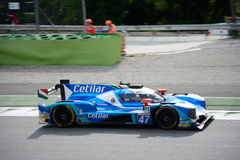 Dallara Sports Prototype in action at the Monza Circuit Royalty Free Stock Images