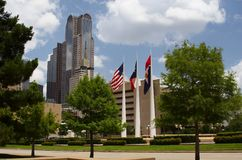 Dallas. Places in Texas - Dallas in the morning royalty free stock image
