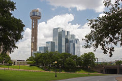 Dallas. Places in Texas - Dallas in the morning stock image