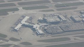 Dallas airport from above stock video