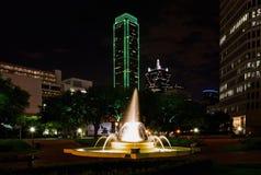 Dallas alla notte Fotografie Stock Libere da Diritti