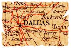 Dallas-alte Karte Lizenzfreies Stockfoto