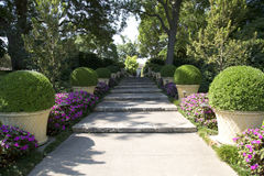 Dallas Arboretum path. Beautiful Dallas Arboretum , TX USA Stock Images