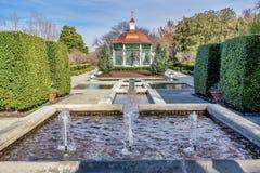 Dallas Arboretum und botanischer Garten im Winter lizenzfreie stockfotos