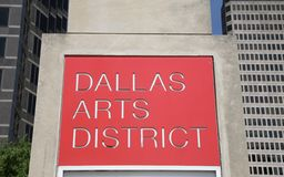 Dallas Arts District Sign Royalty Free Stock Photos