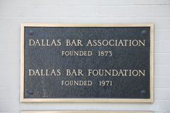 Dallas Bar Association. The community around Dallas receives many benefits from the Dallas Bar Association. Among these is an attorney referral service that is Royalty Free Stock Photo