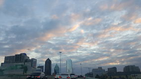 Dallas. Beautiful sky.. Sunset Royalty Free Stock Images
