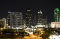 Dallas bij Nacht Royalty-vrije Stock Fotografie