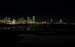 Dallas bij Nacht Royalty-vrije Stock Afbeelding