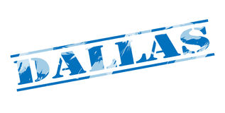 Dallas blue stamp Stock Images