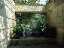 Dallas Botanical Garden vattenspringbrunn Royaltyfri Bild