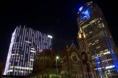 Dallas buildings night scenes Stock Photography