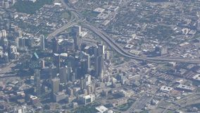 Dallas céntrica, Tejas aéreo almacen de video