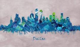 Dallas City em Texas, skyline ilustração royalty free